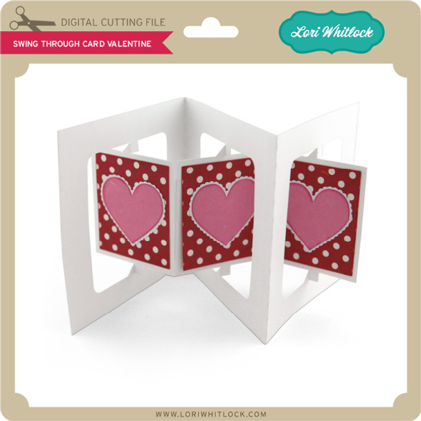 Swing Through Card Valentine