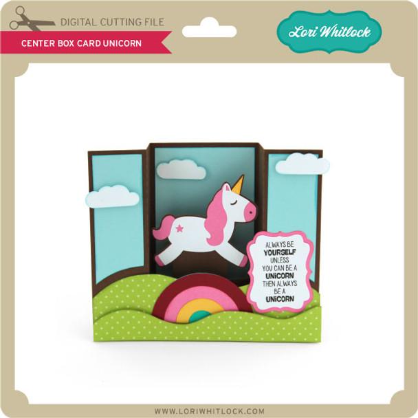 Center Box Card Unicorn