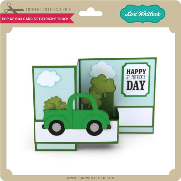 Pop Up Box Card St Patrick's Truck