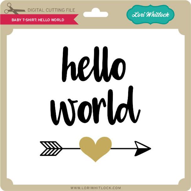 Baby T-Shirt Hello World