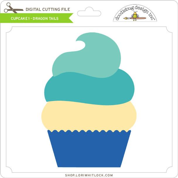 Cupcake 1 - Dragon Tails