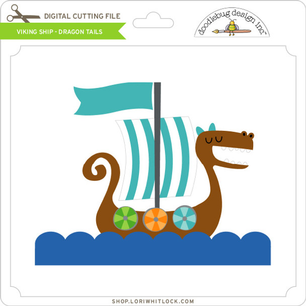 Viking Ship - Dragon Tails