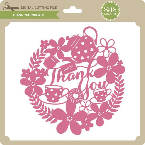 Tea Thank You Wreath