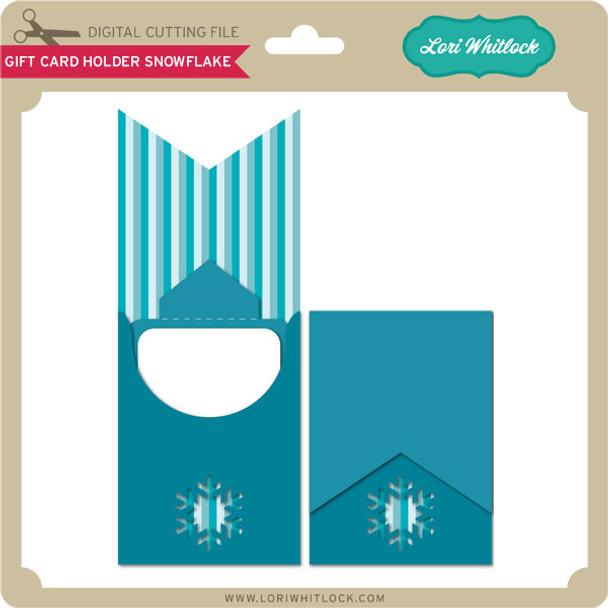 Gift Card Holder Snowflake