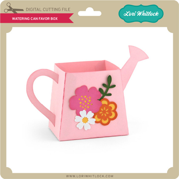 Watering Can Favor Box