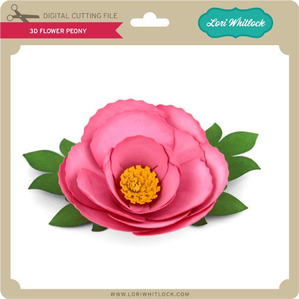 3D Flower Peony