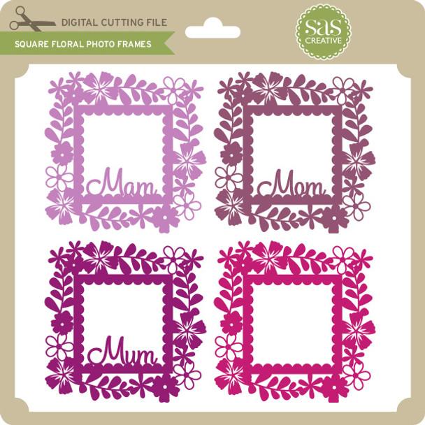 Square Floral Photo Frames