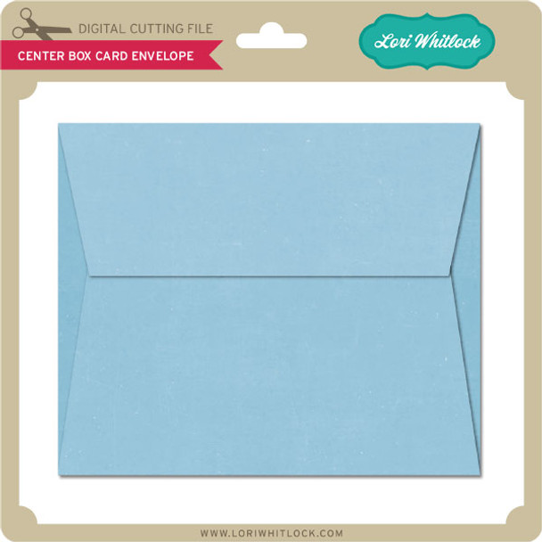 Center Box Card Envelope