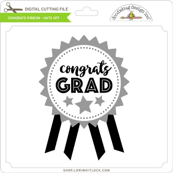 Congrats Ribbon - Hats Off