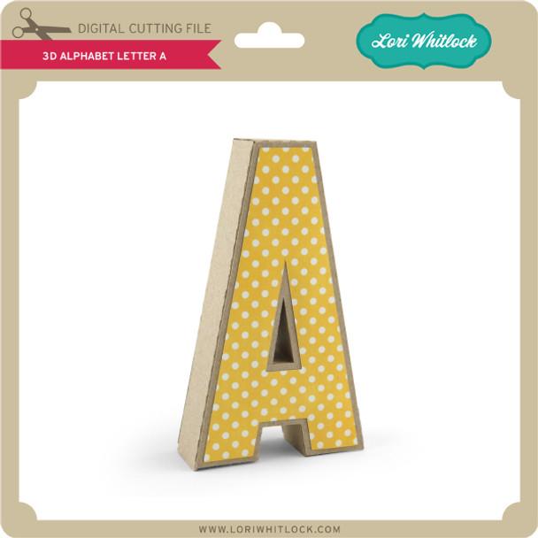 3-D Alphabet Letter A