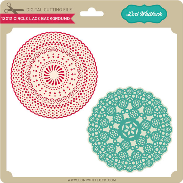 12X12 Square Lace Background