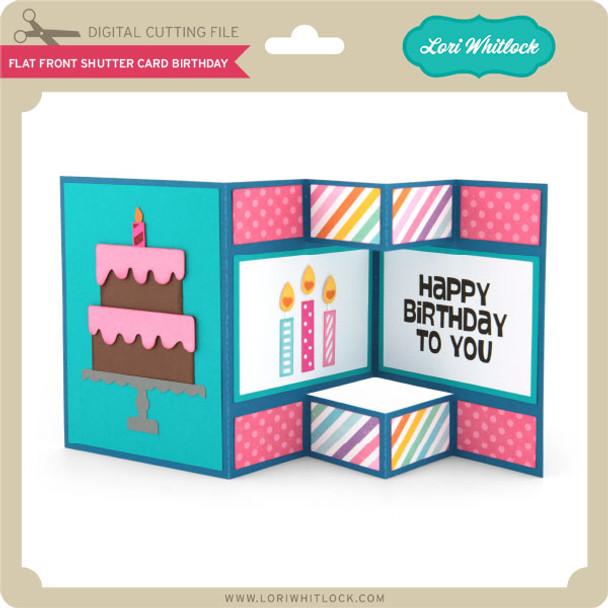 Flat Front Shutter Card Birthday