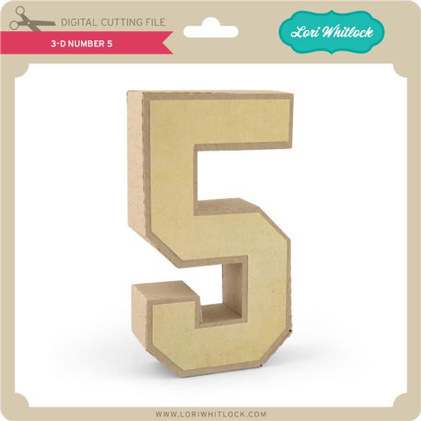 3-D Number 5