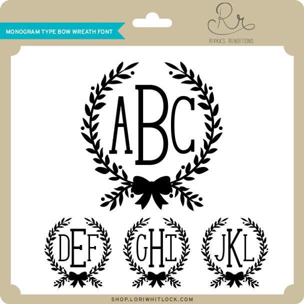 Monogram Type Bow Wreath Font