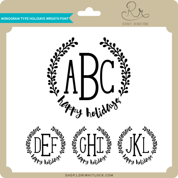 Monogram Type Holidays Wreath Font
