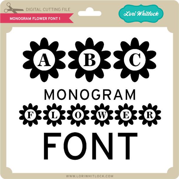 Monogram Flower Font 1
