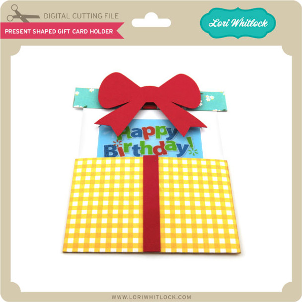Present Shaped Gift Card Holder
