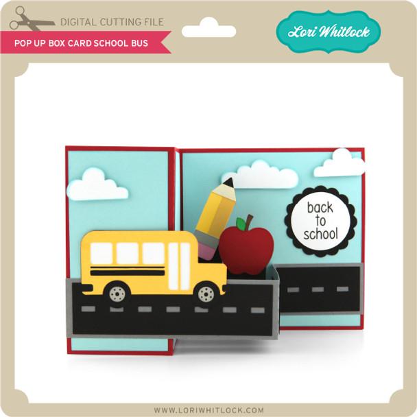 Pop Up Box Card School Bus