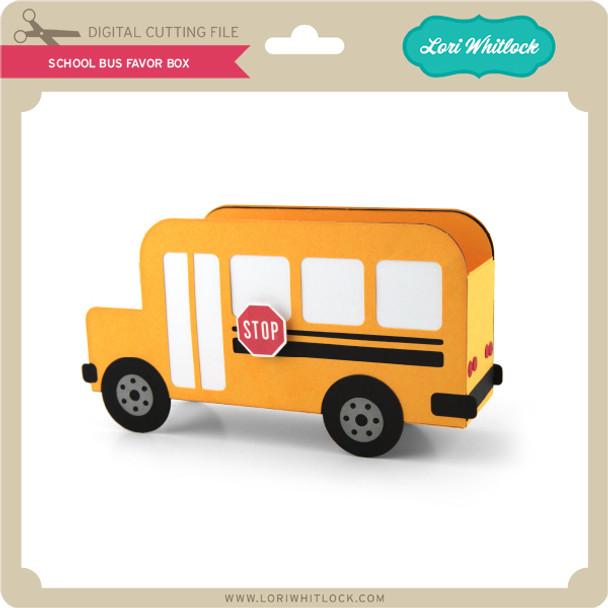 School Bus Favor box