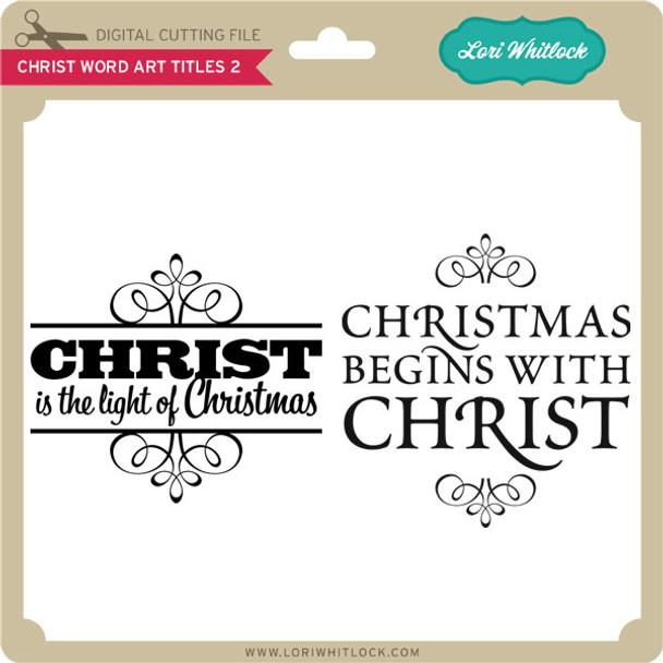 Christ Word Art Titles 2