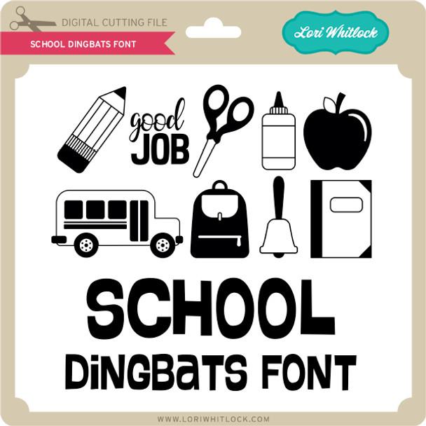 School Dingbats Font