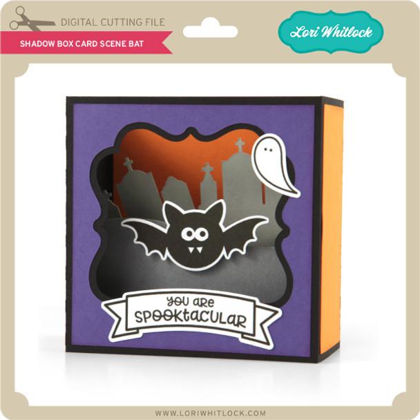 Shadow Box Card Scene Bat