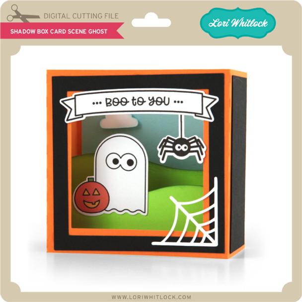 Shadow Box Card Scene Ghost