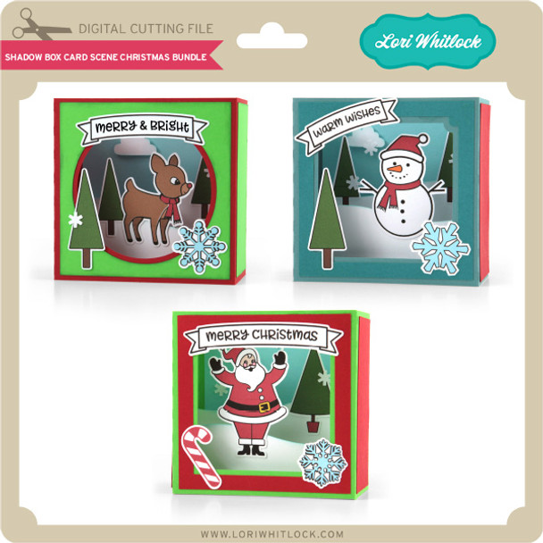 Shadow Box Card Scene Christmas Bundle