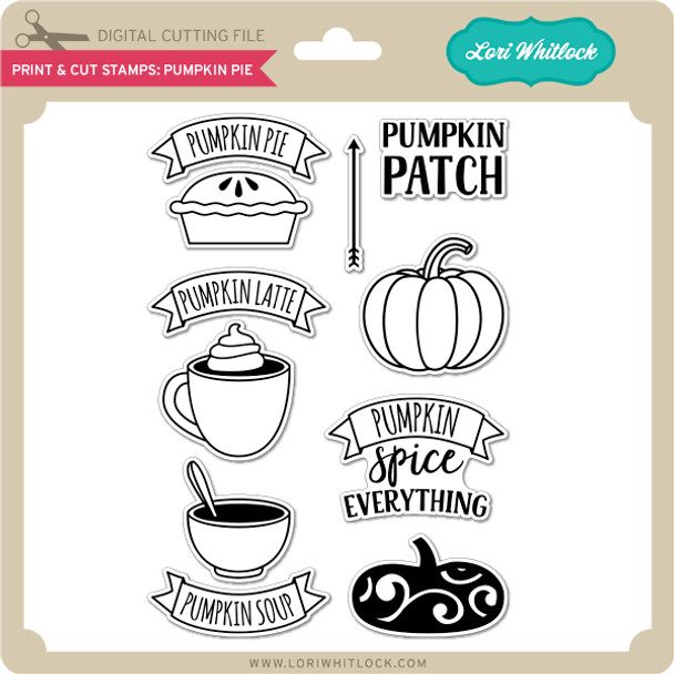 Print & Cut Stamps Pumpkin Pie