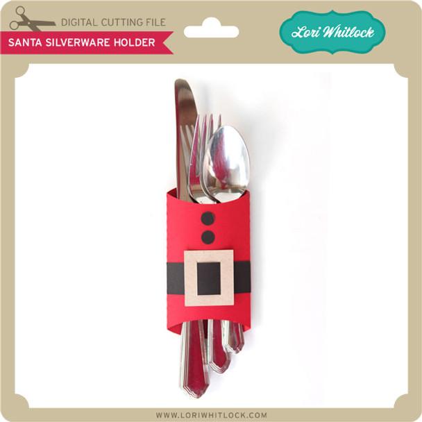 Santa Silverware Holder