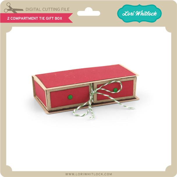 2 Compartment Tie Gift Box
