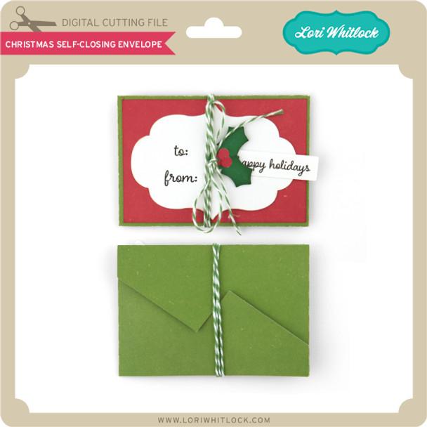 Christmas Self Closing Envelope