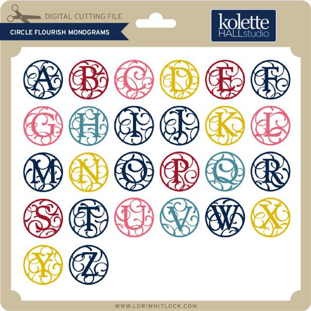 Circle Flourish Monograms