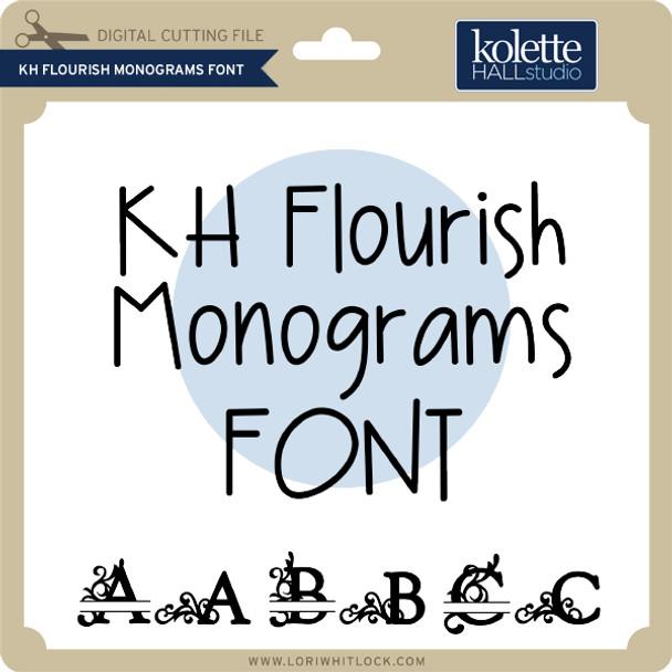 Flourish Monograms Font