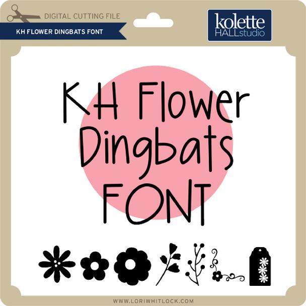 KH Flower Dingbats Font
