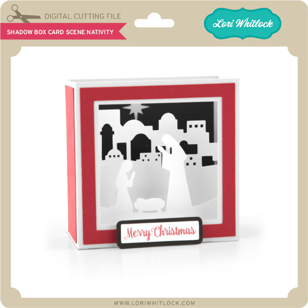 Shadow Box Card Scene Nativity