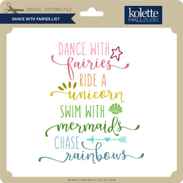 Dance With Fairies List