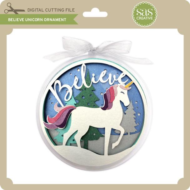 Believe Unicorn Ornament
