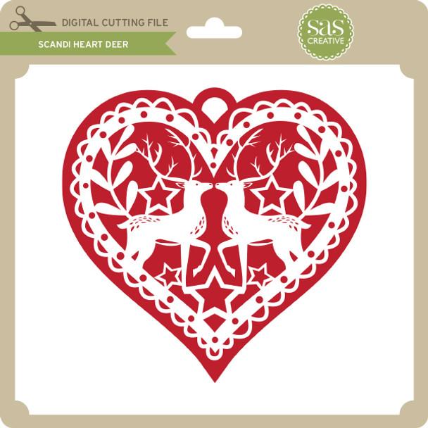 Scandi Heart Deer
