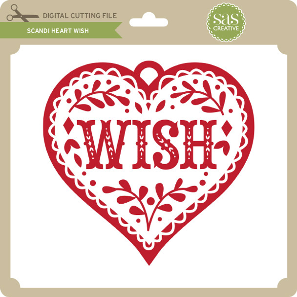 Scandi Heart Wish