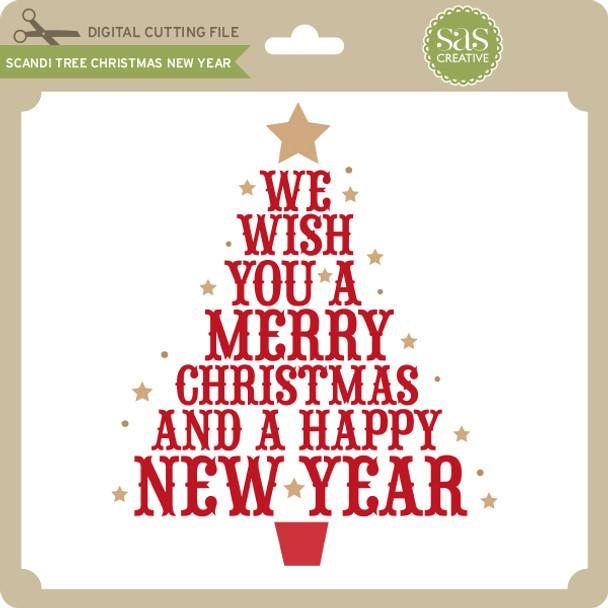 Scandi Tree Christmas New Year