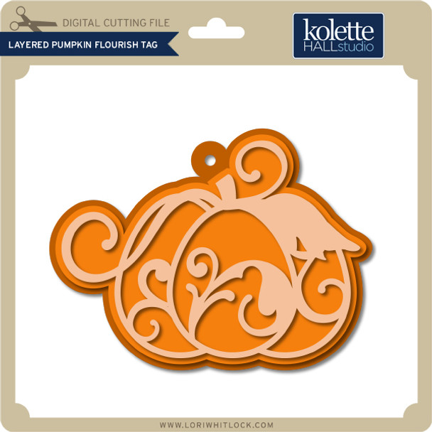 Layered Pumpkin Flourish Tag