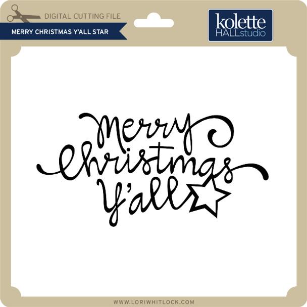 Merry Christmas Y'All Star
