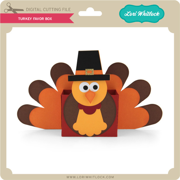 3D Turkey Favor Box