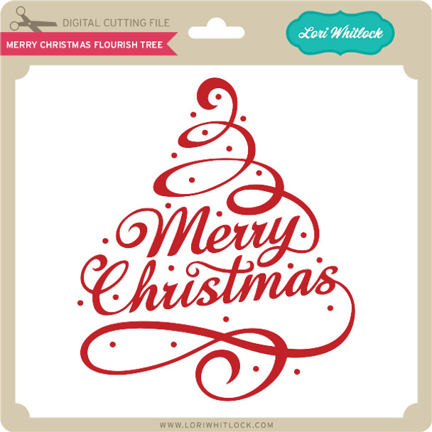 Merry Christmas Flourish Tree
