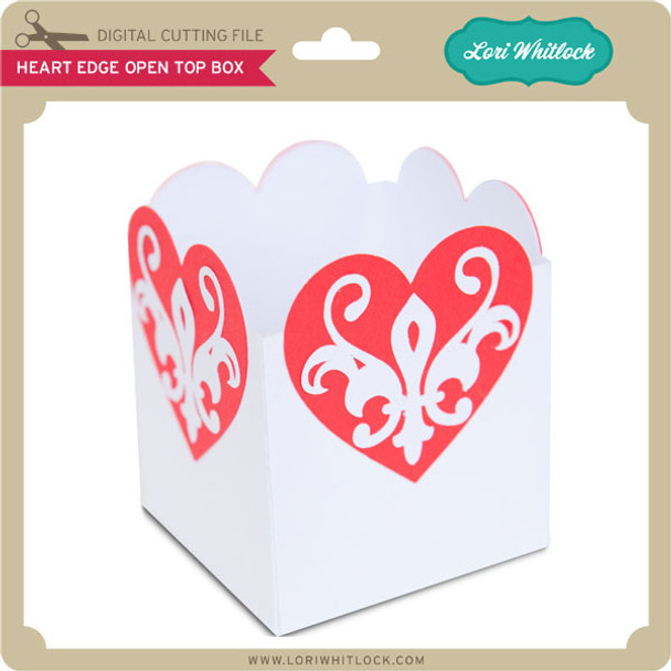 Heart Edge Open Top Box