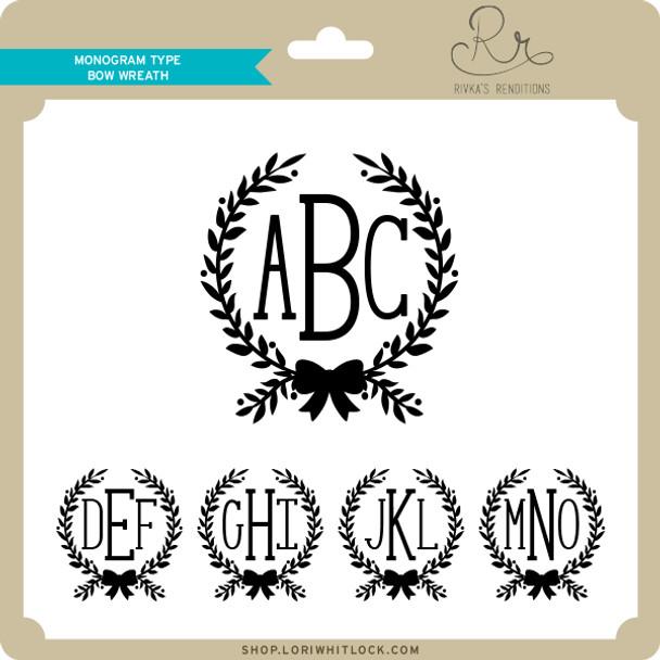 Monogram Type Bow Wreath