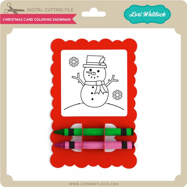 Christmas Card Coloring Snowman