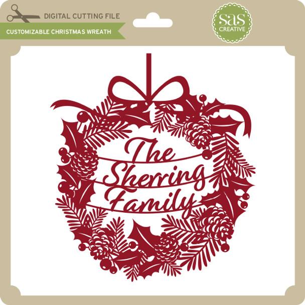 Customizable Christmas Wreath