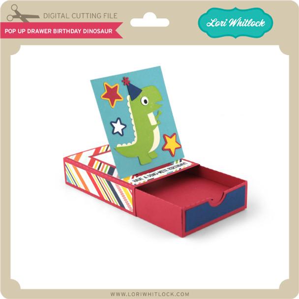 Pop Up Drawer Birthday Dinosaur
